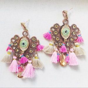 "The ""Bohemian Eye"" Statement Earrings"